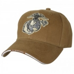 USMC Ballcap EGA Eagle Globe and Anchor - Coyote Brown