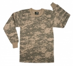 T-Shirt - ACU Camo - Long Sleeve - Polyester/Cotton