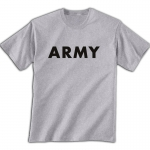 PT T-Shirt - US Army Grey Physical Training T-Shirt