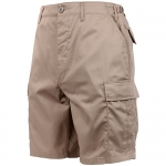 BDU Shorts - Khaki Poly/Cotton