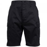 BDU Shorts - Black - Polyester/Cotton