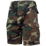 BDU Shorts - Woodland Camo - Poly/Cotton