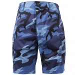 BDU Shorts - Sky Blue Camo - Poly/Cotton