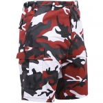 BDU Shorts - Red Camo Poly/Cotton