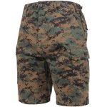 BDU Shorts - Woodland Digital Camo - Poly/Cotton