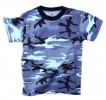 Sky Blue Camo - Short Sleeve T-Shirt