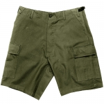 BDU Shorts - Olive Drab - 65% Polyester/35% Cotton Ripstop