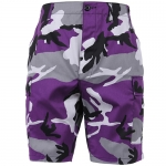 BDU Shorts - Ultra Violet Camo - Poly/Cotton