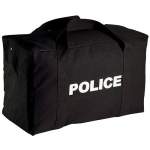 Black Police Logo Canvas Gear Bag - Large
