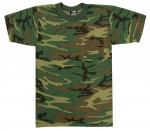Woodland Camo Short Sleeve T-Shirt