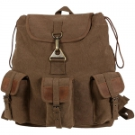 Vintage Canvas Wayfarer Backpack w/ Leather Accents - Black or Brown