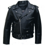 Allstate Leather - Men's Basic Motorcycle Jacket Black