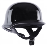 German Shiny Chopper Helmet - Black