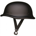 German Dull Black Helmet with Y-straps - Does Not Meet D.O.T. Standards.