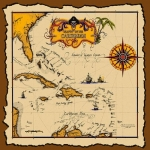 Carribean Pirate Treasure Map Bandana