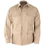 Genuine Gear BDU Shirt - Khaki Polyester/Cotton Twill