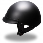 Helmet - DOT Compliant Unvented Half Helmet (Matte or Gloss)