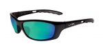 Wiley X: P-17 - Polarized Emerald Green Lens/Gloss Black Frame