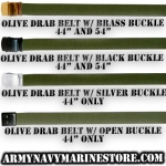 "Web Belts Olive Drab 44"" - 54"""