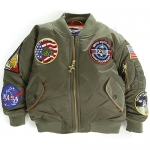 Kid's Jacket - MA-1 Flight Jacket (7-Patch/Green)