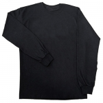 Black - Long Sleeve 100% Cotton T-Shirt
