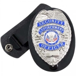 Leather Clip-on Badge Holder/Swivel Snap