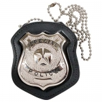 NYPD Style Leather Badge Holder w/ Clip
