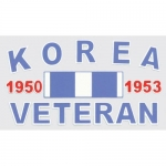 "Veteran Decal - 2.5"" x 4.5"" - ""Korean Veteran"""