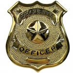 Security Officer Badge - Gold or Silver