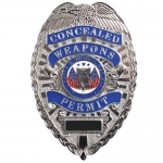 "Deluxe ""Concealed Weapons Permit"" Badge - Silver and Gold"
