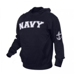 Rothco Navy Military Embroidered Pullover Hoodies