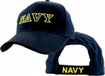 US Navy Ballcap - Navy gold embroidered on navy blue cap