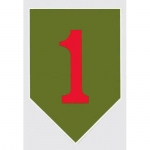 "U.S. Army Decal - 2.75"" x 4"" - Big Red One"