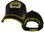 US Army Ballcap - Ranger with Wings - Black with Gold