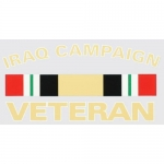 "Veteran Decal - 5.3"" x 2.6"" - Iraq Campaign Vet"