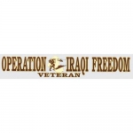 "Veteran Decal - 2.5"" x 12"" - ""OIS Veteran"" Strip"