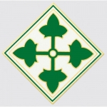 "U.S. Army Decal - 5.5"" - 4th Infantry Emblem"