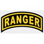 "U.S. Army Decal - 2"" x 4"""" - Ranger Arch - Small"