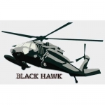 "U.S. Army Decal - 5.25"" x 3.25"" - ""Blackhawk"" Heli"