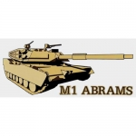 "U.S. Army Decal - 6.5"" x 2.75"" - ""M1 Abrams"" Tank"