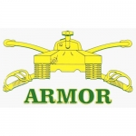 "U.S. Army Decal - 5"" x 2.8"" - Armor"