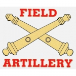 "U.S. Army Decal - 4.5"" x 3.8"" - ""Field Artillery"""