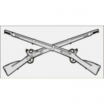 "U.S. Army Decal - 4.75 x 2.3"" - Infantry Rifles"