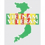 "Veteran Decal - 3.75"" x 5"" - ""Vietnam Veteran"""