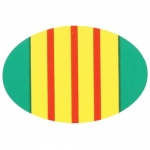 "Veteran Decal - 2"" x 3"" - Vietnam Ribbon Oval"
