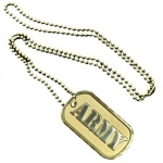 United States Army Gold Plated Dog Tag