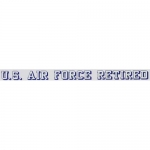 "U.S. Air Force Decal - 20"" - USAF Retired - Strip"