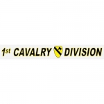 "U.S. Army Decal - 14"" - ""1st Cavalry Div"" - Strip"
