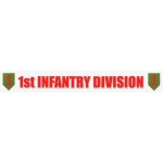 "U.S. Army Decal - 13"" - ""1st Infantry Div"" Strip"