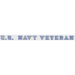 "Veteran Decal - 18"" Strip - ""U.S. Navy Veteran"""